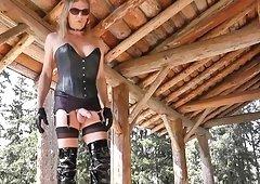 hoe leather shemale outdoor love semen