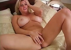 Overweight breasted masturbation - solo