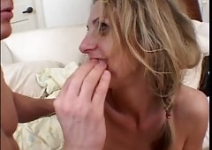 Roxanne Hall acquires cum out of her own fuck hole