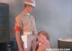 Homosexuall Army Brat Nailed By The Military Police