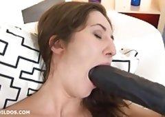 Extreme lengthy brutal dildo making love