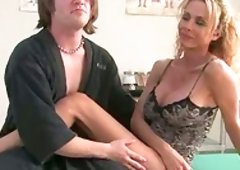Hugely Breasted Tranny Getting Down And Dirty a Dude's Butthole in Hospital